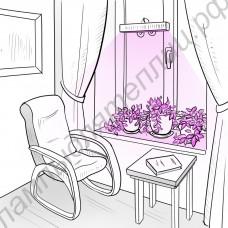 """Оконный фитосветильник на биколорных светодиодах """"Сирма"""" 30Вт для домашних цветов и рассады"""